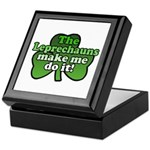 Leprechauns Make Me Do It Shamrock Keepsake Box