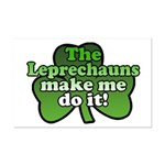 Leprechauns Make Me Do It Shamrock Mini Poster Pri