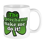Leprechauns Make Me Do It Shamrock Mug