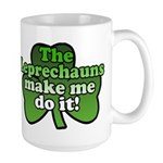 Leprechauns Make Me Do It Shamrock Large Mug