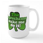 Leprechauns Make Me Do It Shamrock Large Mug
