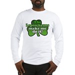 Leprechauns Make Me Do It Shamrock Long Sleeve T-S