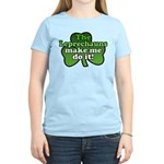 Leprechauns Make Me Do It Shamrock Women's Light T