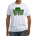 Leprechauns Make Me Do It Shamrock Fitted T-Shirt