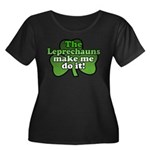 Leprechauns Make Me Do It Shamrock Women's Plus Si