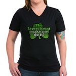Leprechauns Make Me Do It Shamrock Women's V-Neck