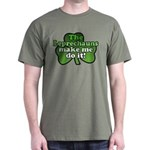 Leprechauns Make Me Do It Shamrock Dark T-Shirt