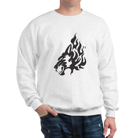 Wolf Black Design #48 Sweatshirt