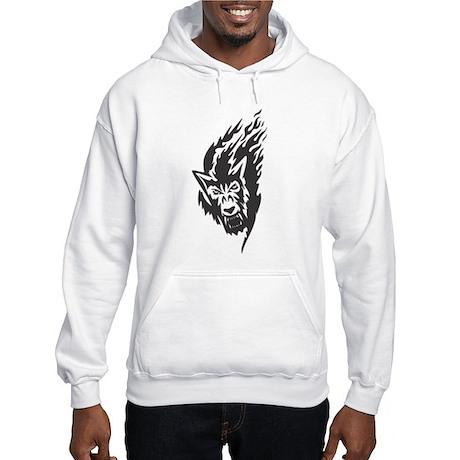 Wolf Black Design #43 Hooded Sweatshirt