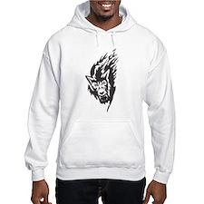 Wolf Black Design #43 Hoodie