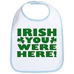 Irish You Were Here Shamrock Bib