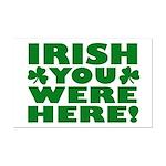 Irish You Were Here Shamrock Mini Poster Print