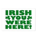 Irish You Were Here Shamrock Postcards (Package of