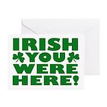 Irish You Were Here Shamrock Greeting Cards (Pk of