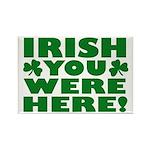Irish You Were Here Shamrock Rectangle Magnet (10