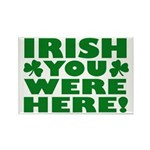 Irish You Were Here Shamrock Rectangle Magnet