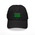 Irish You Were Here Shamrock Black Cap