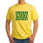 Irish You Were Here Shamrock Yellow T-Shirt