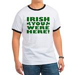 Irish You Were Here Shamrock Ringer T