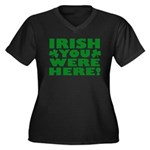Irish You Were Here Shamrock Women's Plus Size V-N
