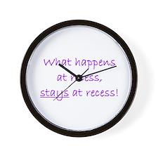 Recess Wall Clock