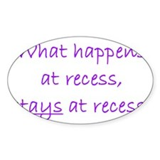 Recess Oval Decal