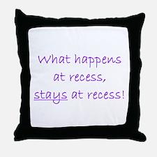 Recess Throw Pillow