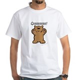 Bear Mens Classic White T-Shirts