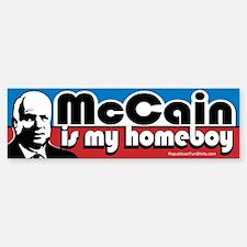 McCain is my Homeboy Bumper Bumper Bumper Sticker