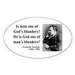 Nietzsche 11 Oval Sticker