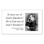 Nietzsche 11 Rectangle Sticker