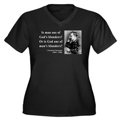 Nietzsche 11 Women's Plus Size V-Neck Dark T-Shirt