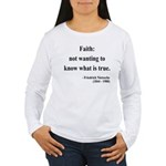 Nietzsche 10 Women's Long Sleeve T-Shirt