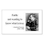 Nietzsche 10 Rectangle Sticker
