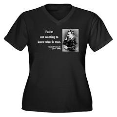 Nietzsche 10 Women's Plus Size V-Neck Dark T-Shirt