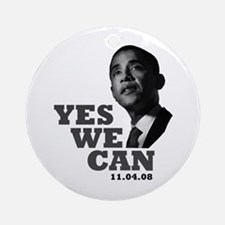 Yes We Can - Obama Ornament (Round)