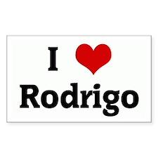 I Love Rodrigo Rectangle Stickers