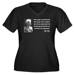 Mark Twain 21 Women's Plus Size V-Neck Dark T-Shir