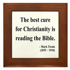 Mark Twain Text 20 Framed Tile