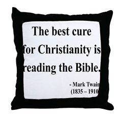 Mark Twain Text 20 Throw Pillow