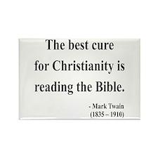 Mark Twain Text 20 Rectangle Magnet