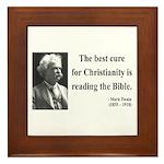 Mark Twain 20 Framed Tile