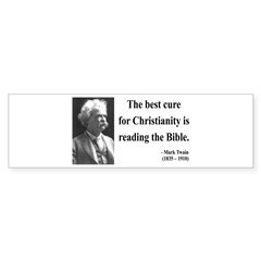Mark Twain 20 Bumper Bumper Sticker