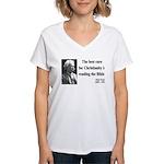 Mark Twain 20 Women's V-Neck T-Shirt