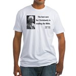 Mark Twain 20 Fitted T-Shirt