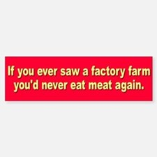 FACTORY FARM Bumper Bumper Bumper Sticker