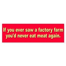 FACTORY FARM Bumper Car Sticker