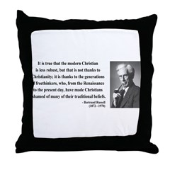 Bertrand Russell 14 Throw Pillow