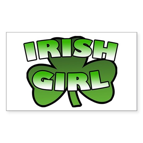 Irish Girl Rectangle Sticker