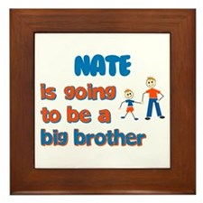 Nate - Going to be a Big Brot Framed Tile